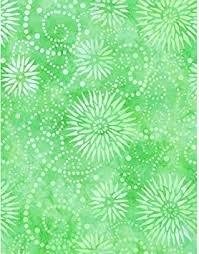 Essentials Flower Burst Lt Green 108