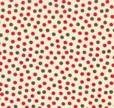 Funky monkey red and brown dots on creme