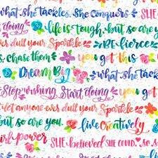 Girl Power 2 Rainbow Words