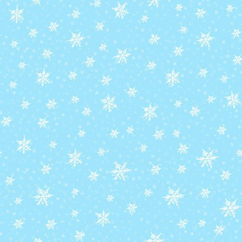 Gnoming Through the Snow-Blue snowflakes