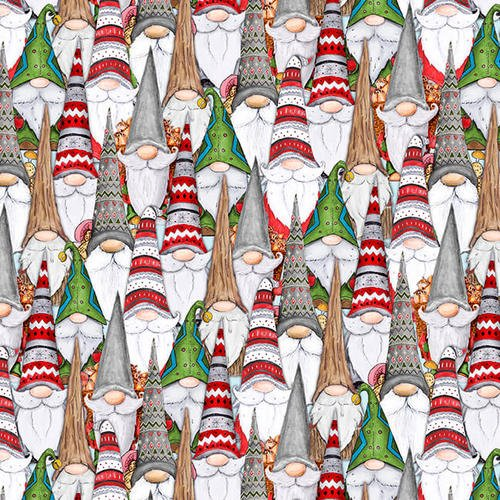 Gnoming Through the Snow-Gnomes in a crowd