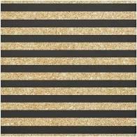 Happy Holiday Coordinates Blk/gold stripe