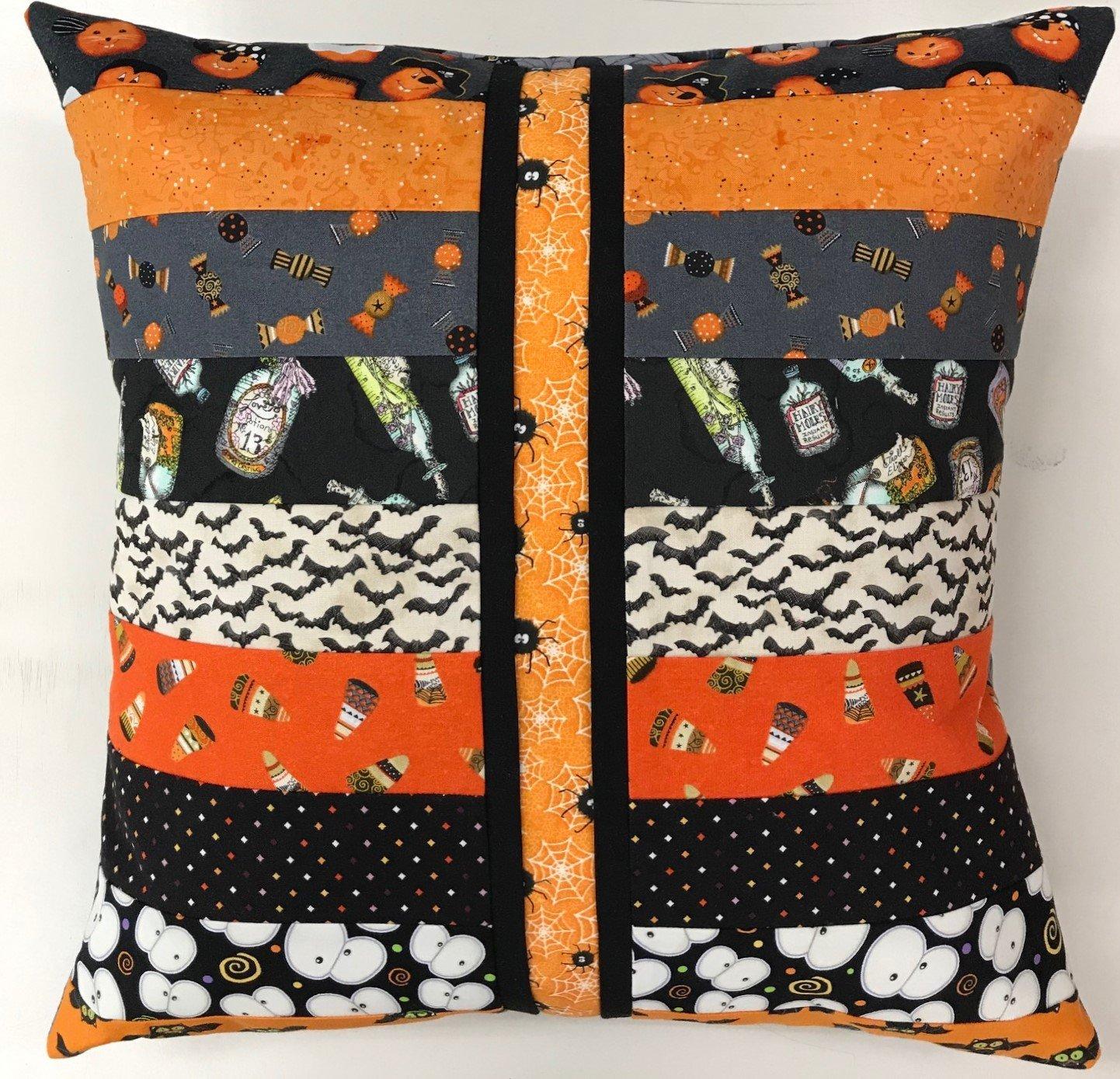 Beginner Rotary Cutter Pillow- Halloween