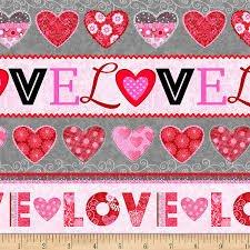 Hearts of Love-Border Print