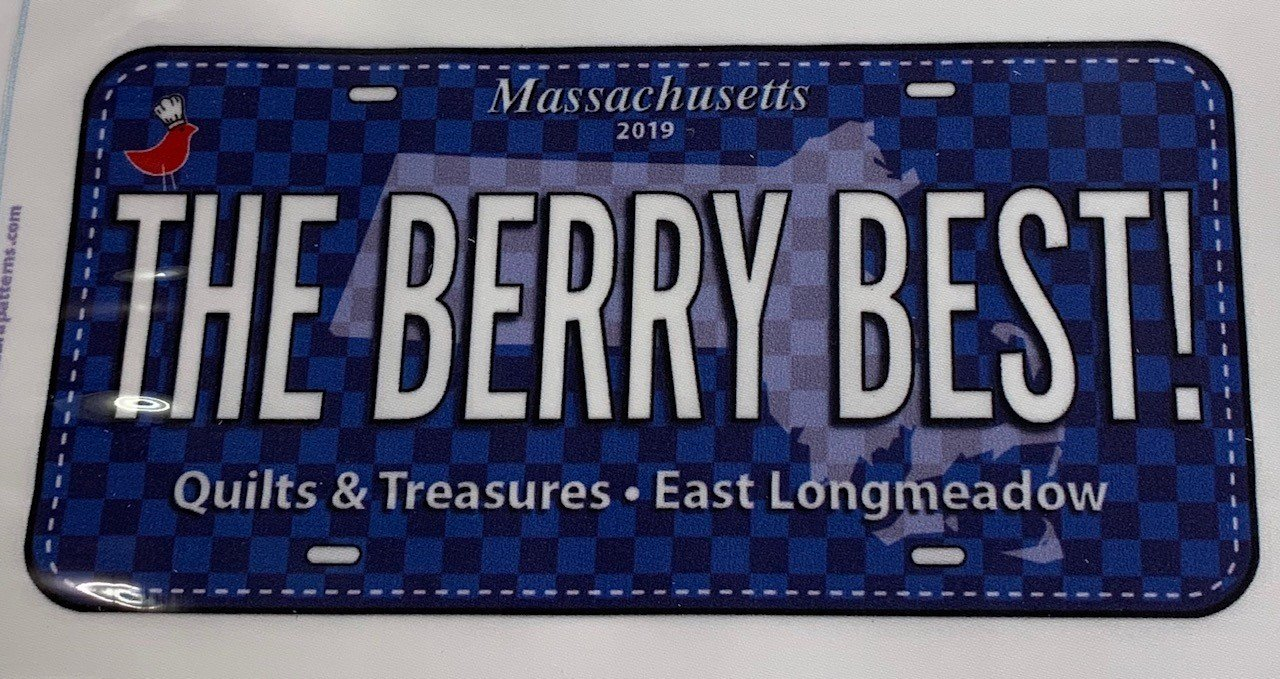 2019 Berry Best License Plate