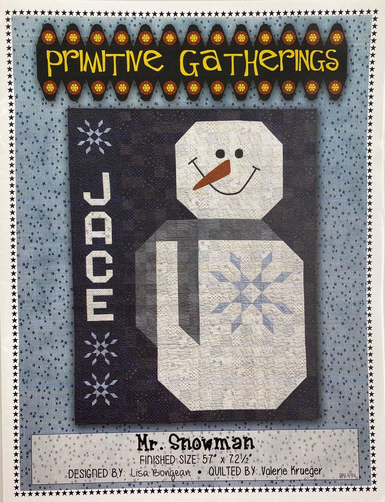 Primitive Gatherings Mr. Snowman Pattern