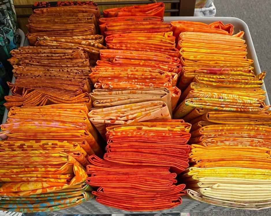 Orange Batik Fat Quarter for MS
