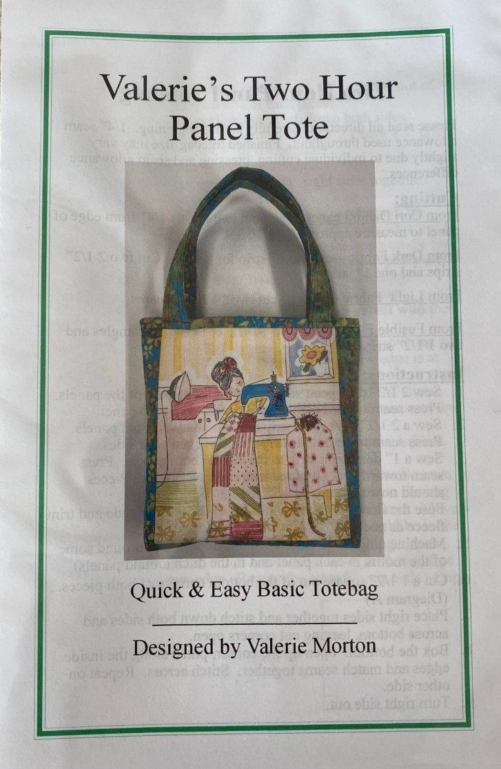 Valerie's Two Hour Panel Tote Pattern