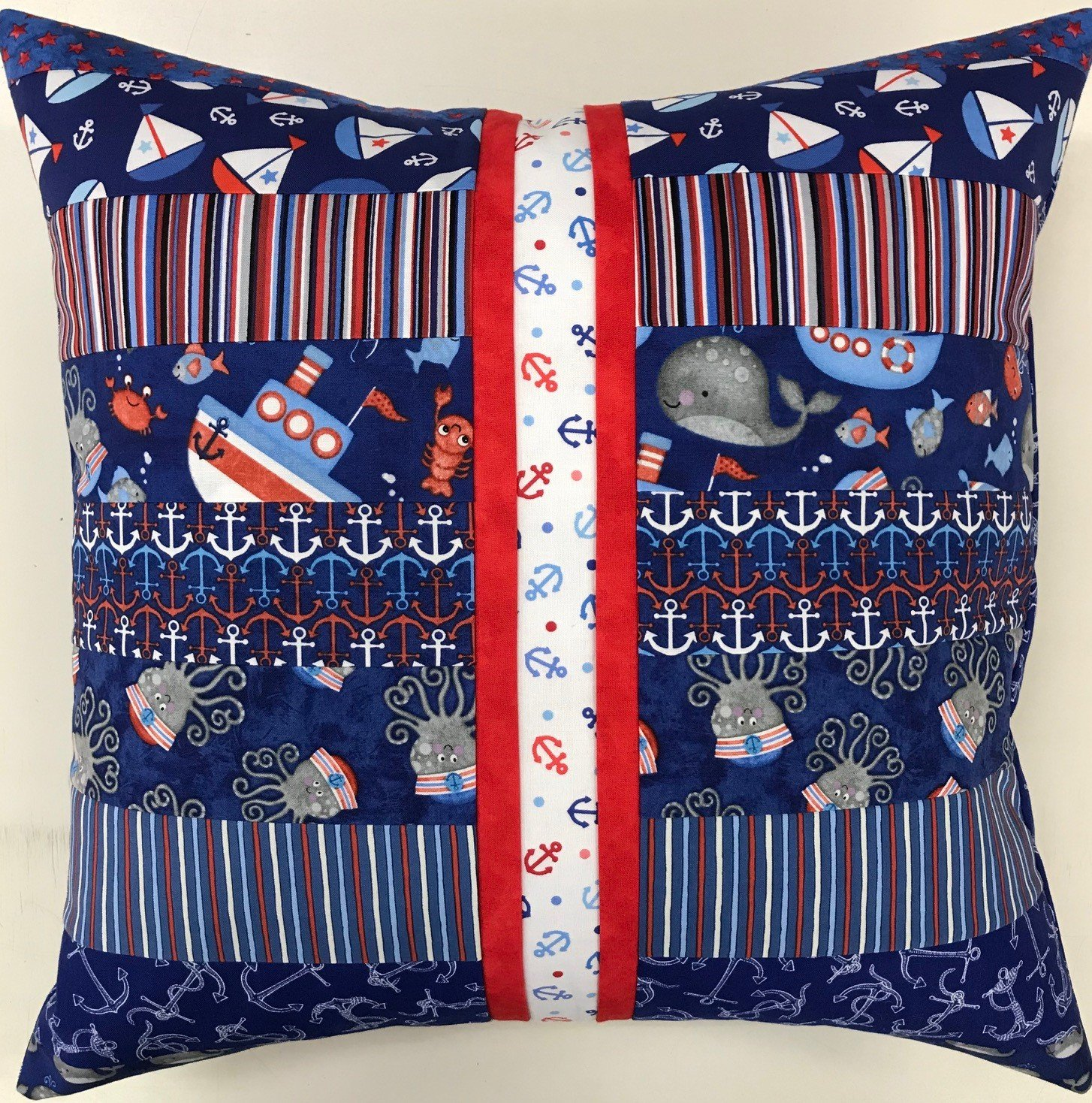 Beginner Rotary Cutter Pillow Kit Nautical Version