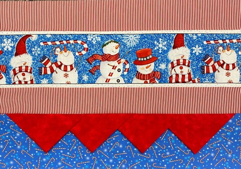 Border Print Placemats - Snowmen