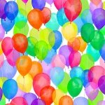 Balloons on White- Cue the Confetti
