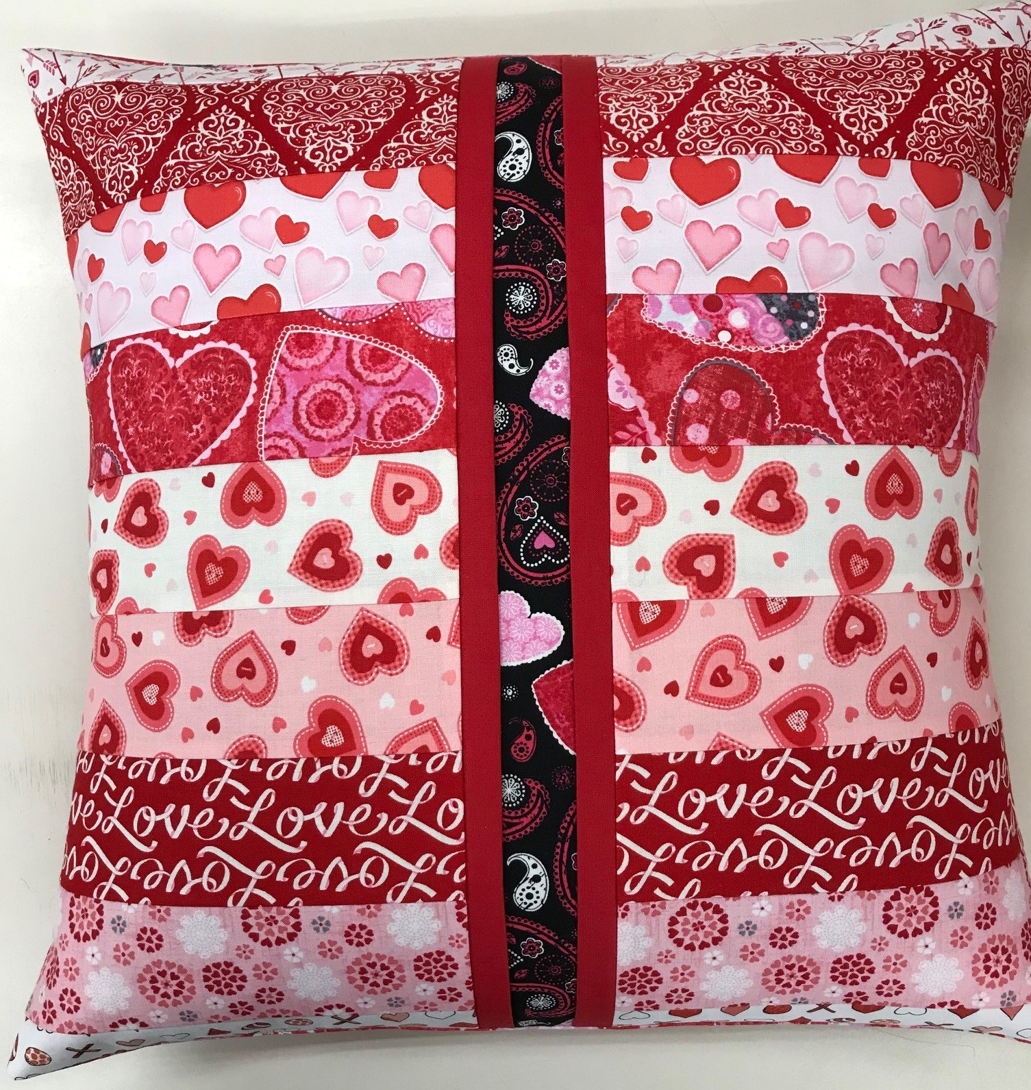 Beginner Rotary Cutter Pillow Kit- Valentine