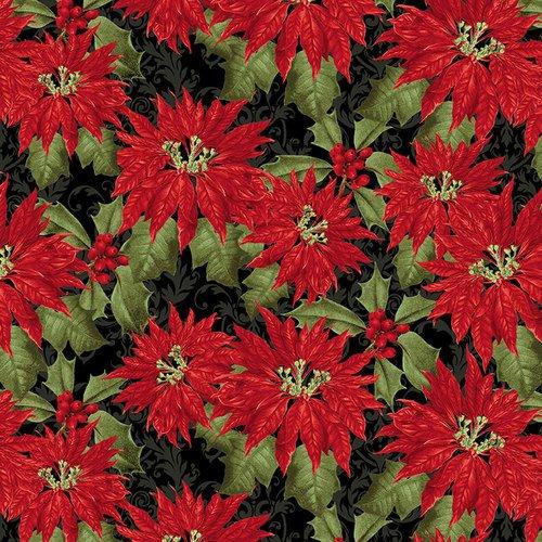 Yuletide Botanica-Poinsettia-black