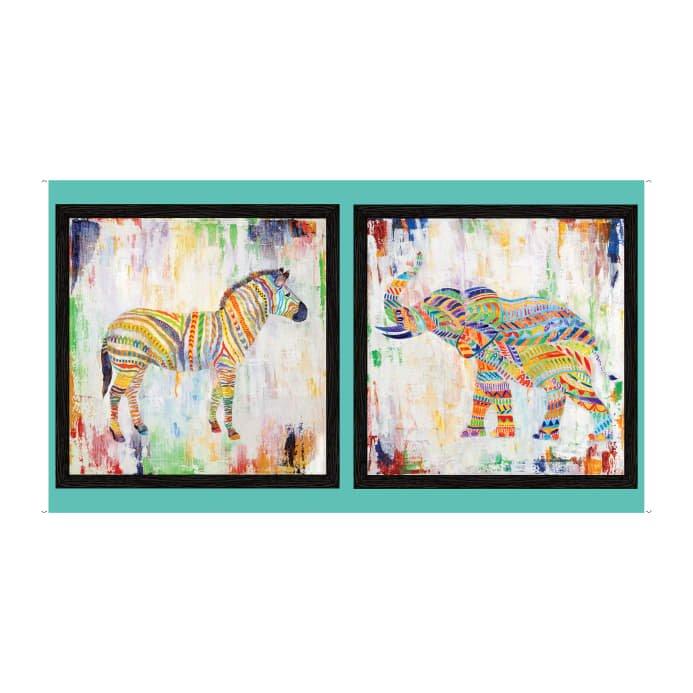 Artworks XII Rainbow Animal Panel Multi