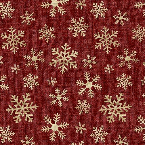 A Jingle Bell Christmas Crossroads Snowflake Red