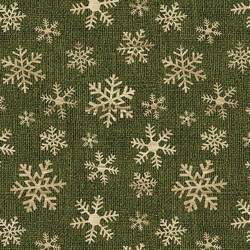 A Jingle Bell Christmas Crossroads Snowflake Green