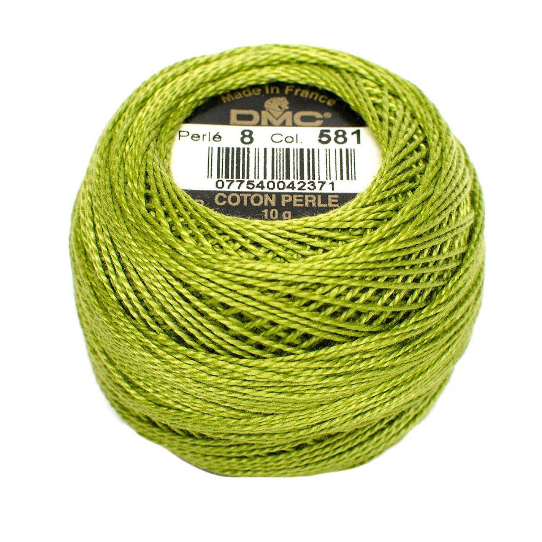 DMC Perle Cotton Size 8 581 Moss Green