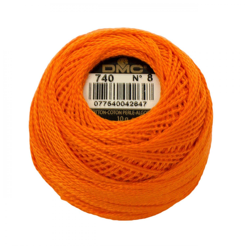DMC Perle Cotton Size 8 0740 Tangerine