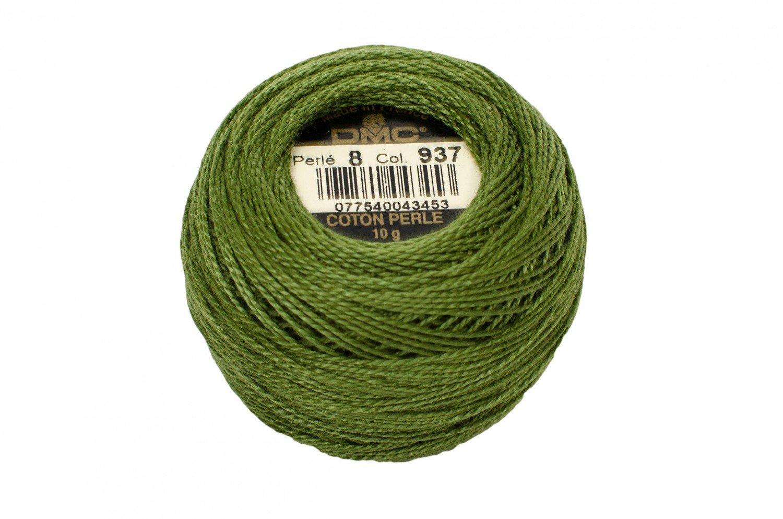 DMC Perle Cotton Size 8 937 Medium Avocado