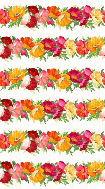 Full Bloom Border Print