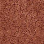 1 yard Harmony Curly Scroll Teracotta