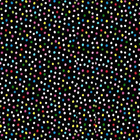 1 Yard Cut Sew Sassy Dots Black