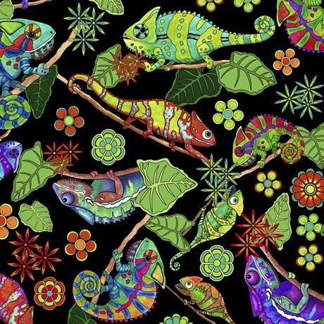 Color Me Chameleon Tossed Chameleons Black