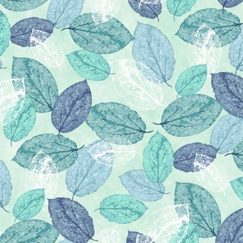 Viva Terra Teal leaves