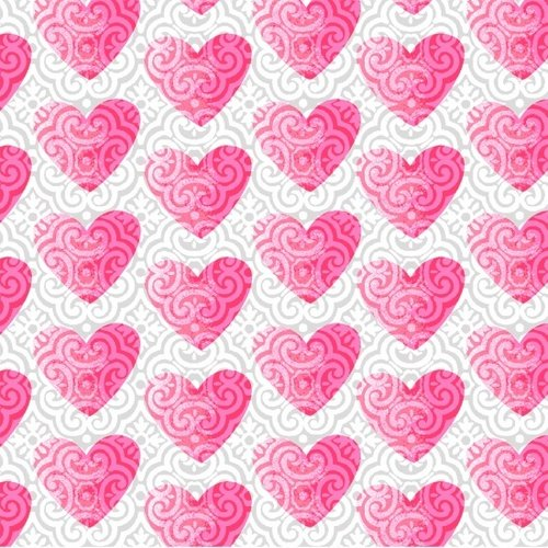 Hearts of Love White Pink