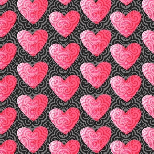Hearts of Love Gray Pink