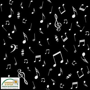 Quilters Harmony Musical Notes Black/White