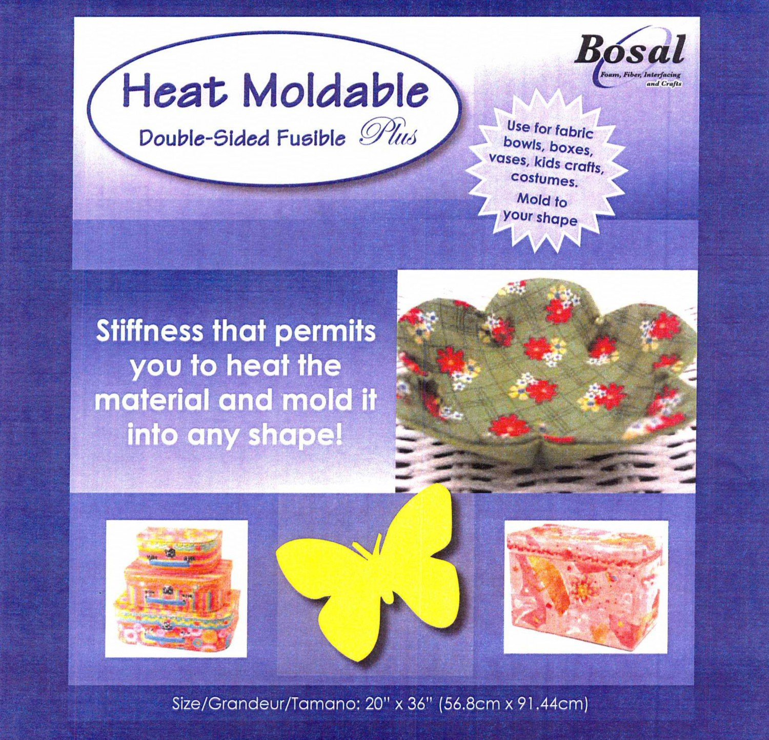 Bosal Heat Moldable Double sided Fusible Plus Sheets 9 x 12
