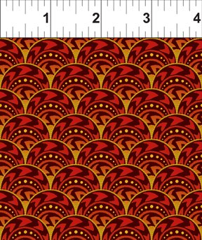 1 yard Celestial Collection Fan Red
