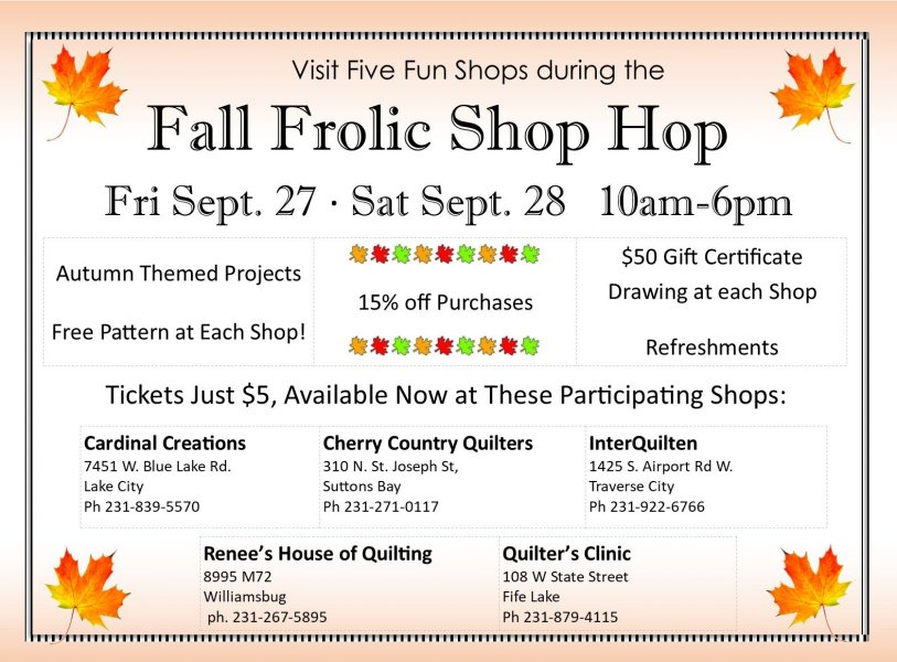 Fall Frolic Shop Hop Poster