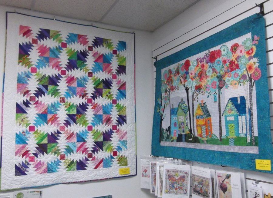 Samples of a Pineapple Quilt and a Laura Heine Collage