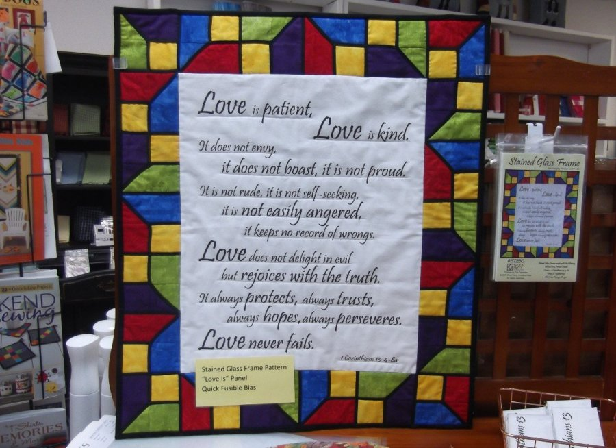 Quilted Wall Hanging 1Corinthians 13