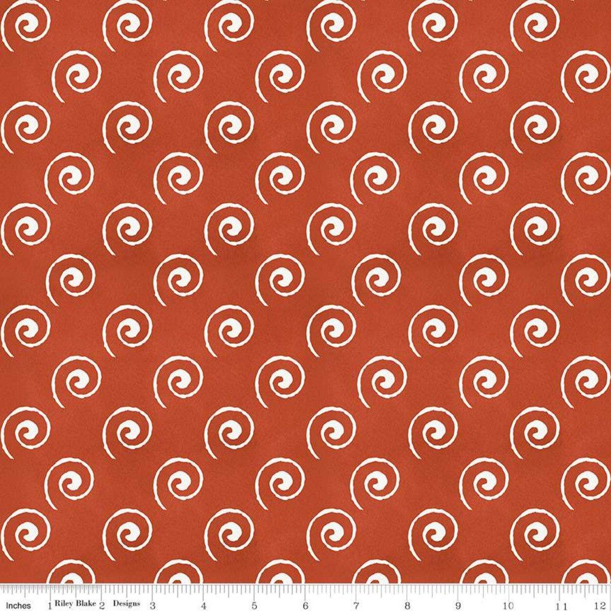 Coffee Chalk Steam Swirl Red