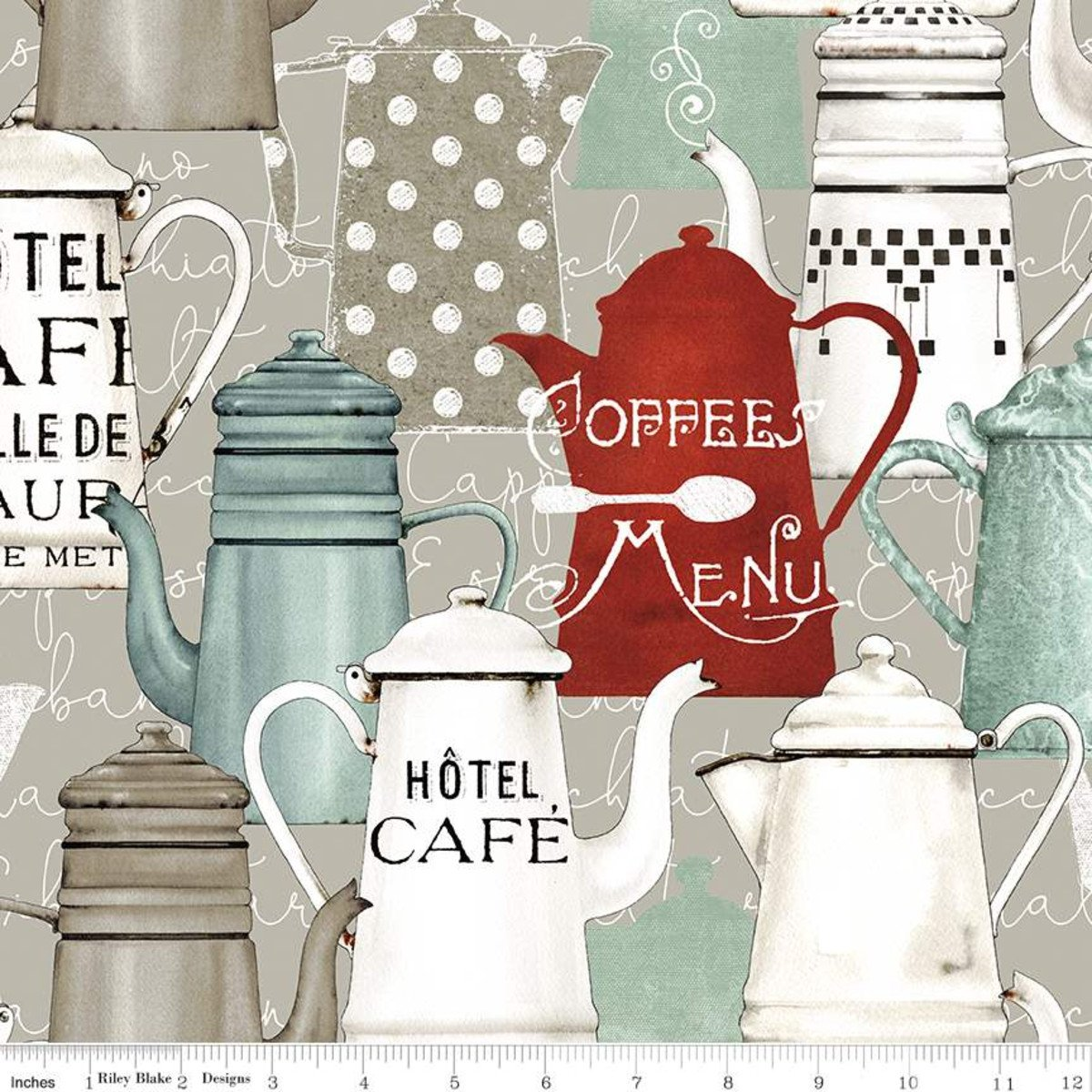 Coffee Chalk Pots - Taupe