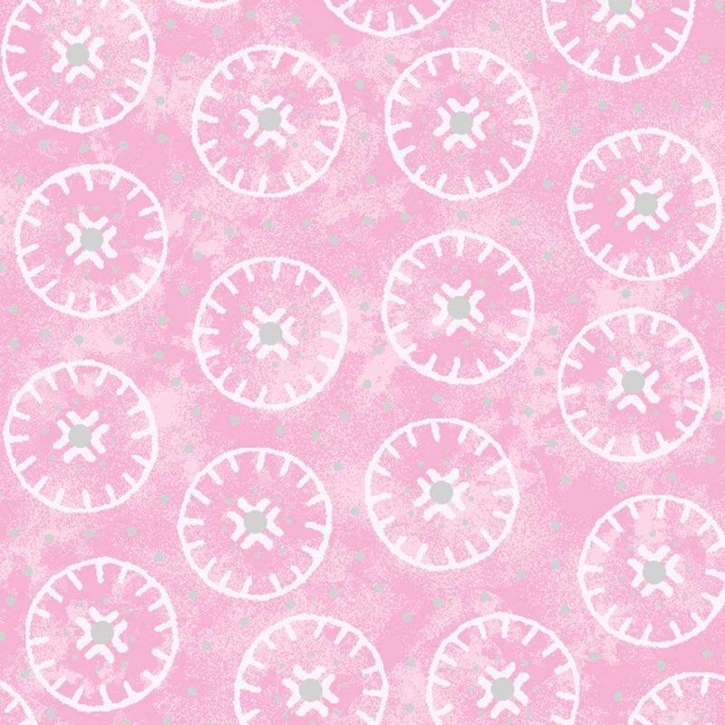 Enchanted Cotton Pink Circles