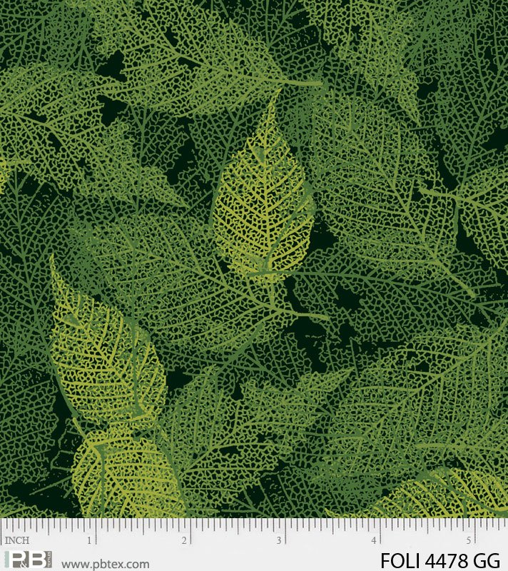 Dark Green Foliage Textured Leaves