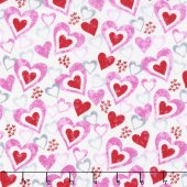 Hearts of Love White Multi