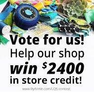 Quilt Shop Contest information