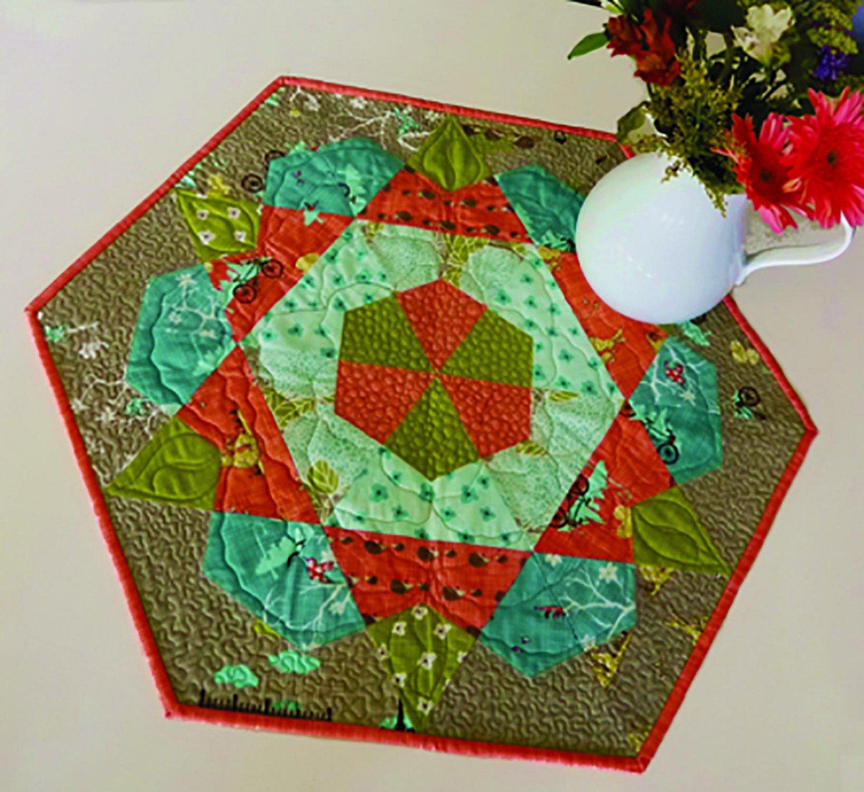 Hybrid Hexi Piece Rose Star pattern
