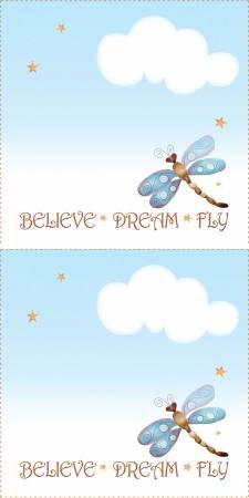 Quilt Label Dragonfly