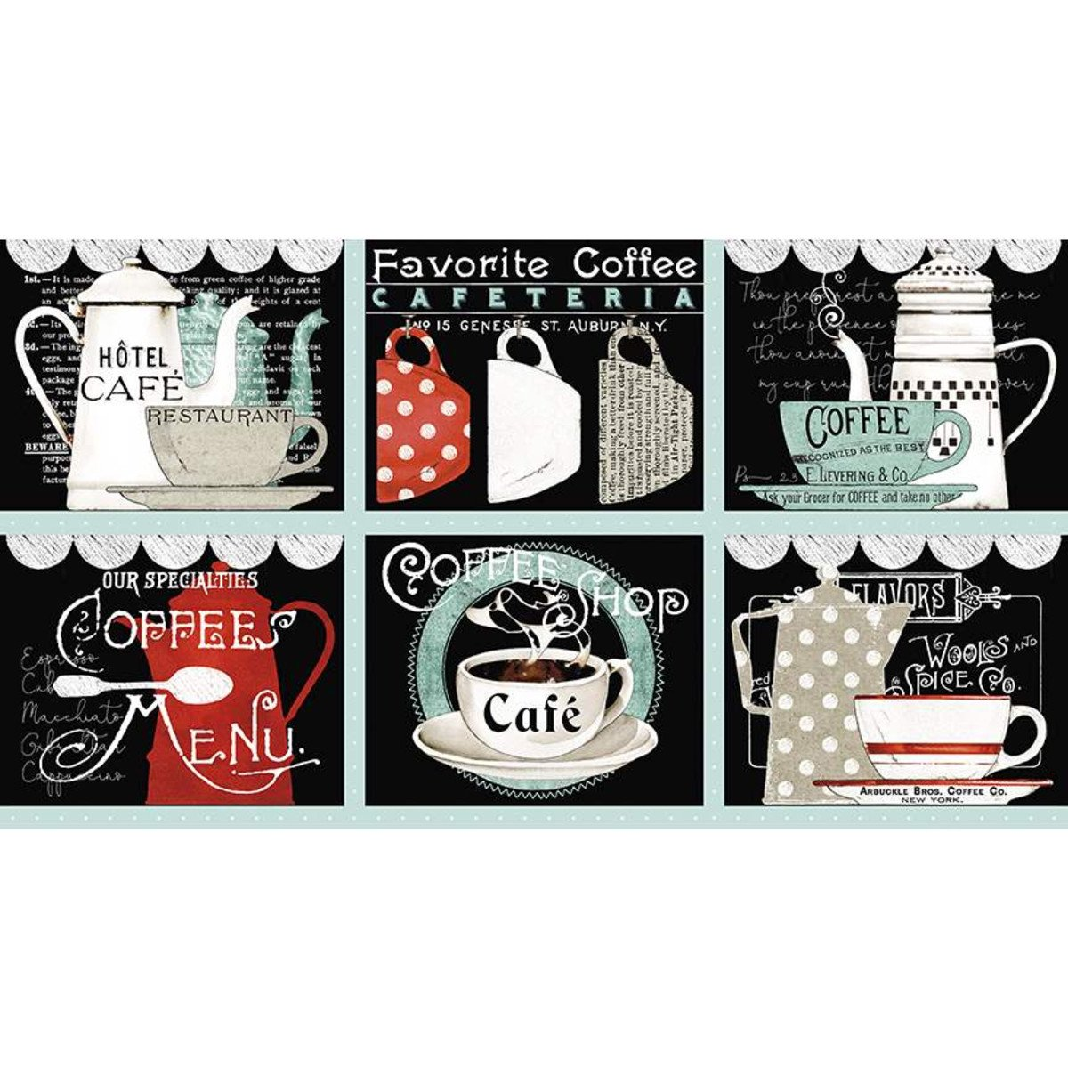Coffee Chalk Placemat Panel