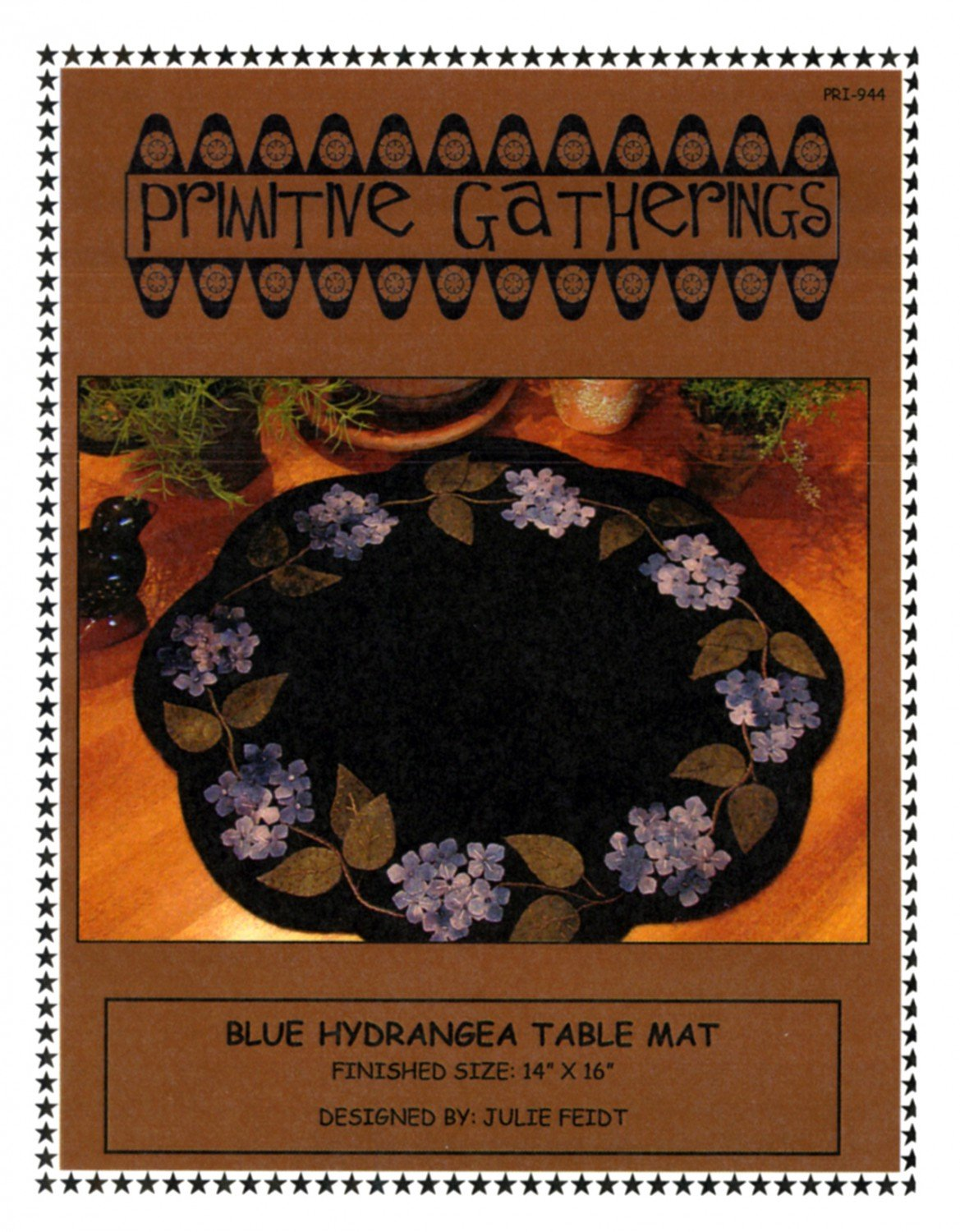 Blue Hydrangea Table Mat Pattern