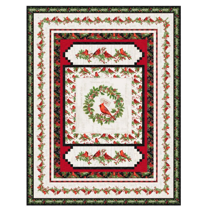Cardinal Wreath Pattern