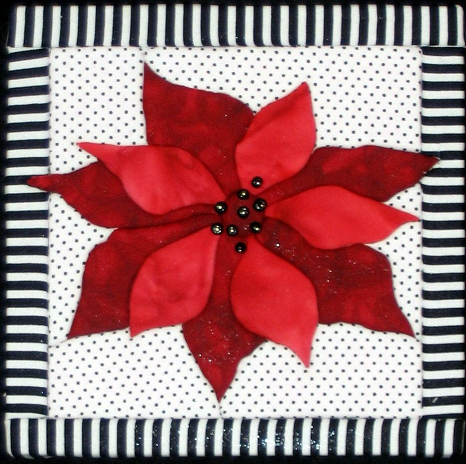 Quilt Board Poinsettia