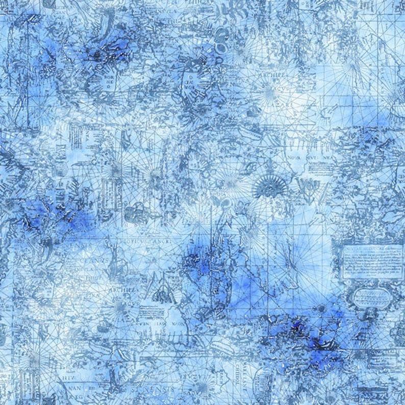 Smooth Sailing Map Blender Blue