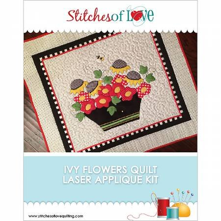 Ivy Flowers in Wool Applique Pattern